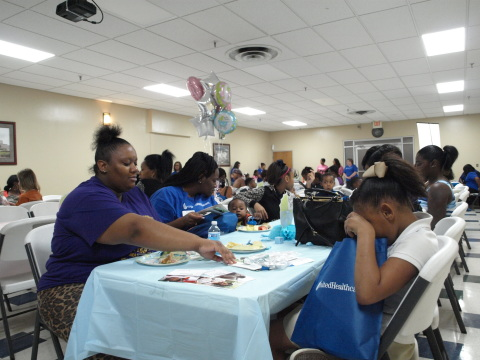 New and expectant moms attended the Community Baby Shower hosted by UnitedHealthcare Community Plan of Mississippi at Jackson Medical Mall in Jackson, Miss. The baby shower provided expectant moms and new parents with important prenatal and well-baby care resources and information. They also received information about UnitedHealthcare's Healthy First Steps case management program and BabyBlocks, a free online wellness-incentive program. (Photo Credit: Jimmy Winstead)