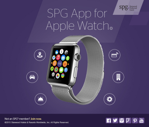 The SPG App for Apple Watch Unlocks New Level of Access for Members. With SPG's Keyless Room Entry and Apple Watch, Opening Your Hotel Room Door is as Easy as a Flick of the Wrist. (Photo: Business Wire)
