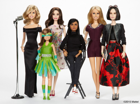 "Barbie® recognizes six Sheroes, female heroes who inspire girls by breaking boundaries and expanding possibilities for women everywhere. These extraordinary role models that include Trisha Yearwood, Sydney ""Mayhem"" Keiser, Emmy Rossum, Ava DuVernay, Kristin Chenoweth and Eva Chen have been honored with a one-of-a-kind doll in their likeness (from left to right).  (Photo: Business Wire)"
