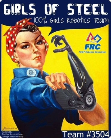 """Pittsburgh, Pa. based """"Girls of Steel"""" (FIRST® Team 3504) is the recipient of the 2015 Media & Technology Innovation Award, sponsored by Comcast NBCUniversal. (Photo: Business Wire)"""