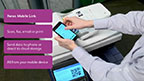 With the Xerox Mobile Link App, users can create personalized, one-touch workflows on their mobile device to remotely control a Xerox MFP and transmit documents to the cloud, fax, email or other destinations.