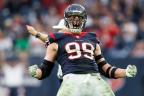 J.J. Watt, a new partner for Reliant and NRG, in action for the Houston Texans (Photo: Business Wire)