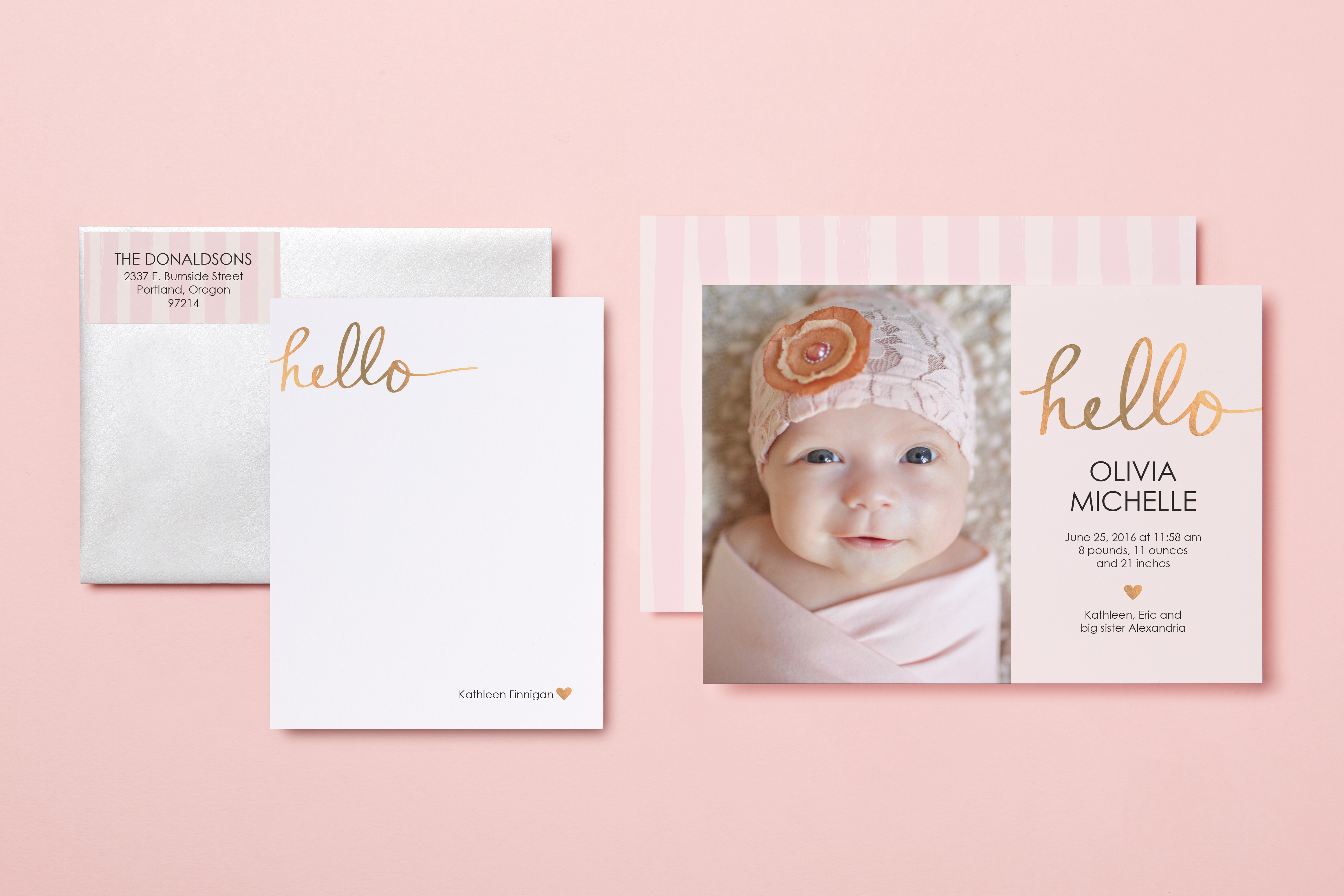 Tiny Prints and Baby2Baby Launch Exclusive Birth Announcement – Online Birth Announcement