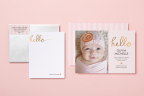 Tiny Prints, the leading online stationery boutique, today unveils its exclusive line of birth announcements, designed to benefit Baby2Baby, a non-profit organization that provides low-income children, ages 0 to 12, with diapers, clothing and all the basic necessities that every child deserves. (Photo: Business Wire)