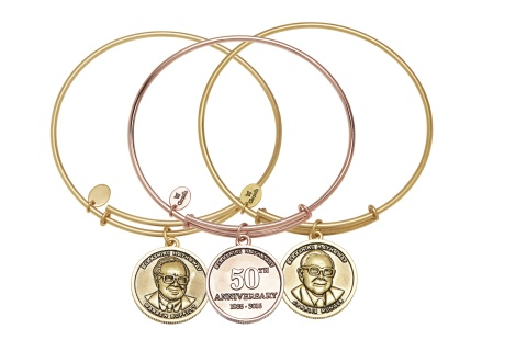 Berkshire Hathaway 50th Anniversary Commemorative Chrysalis Bracelets (Set of Three) for Annual Shareholders Meeting (Photo: Business Wire)