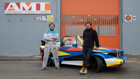 From the left: Toni Chinchilla and Jaime Gili and Cromax finished car; a project by Jaime Gili, cour ...