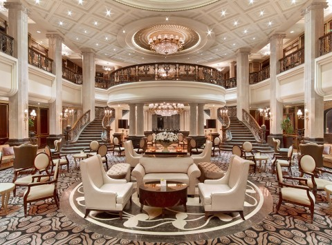 The lobby at The St. Regis Moscow Nikolskaya