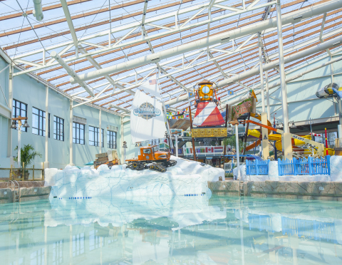 Camelback Lodge & Aquatopia Indoor Waterpark opens today in the Pocono Mountains at Camelback Resort. Situated under a Texlon® transparent roof, Aquatopia is the largest indoor waterpark in the Northeast. (Photo: Business Wire)
