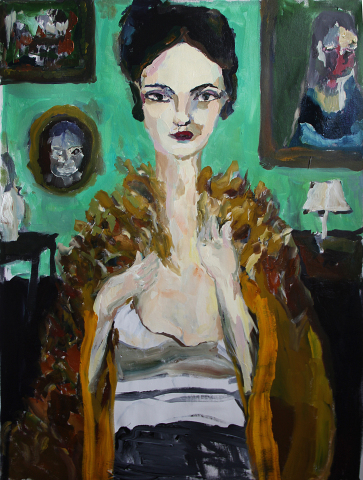 Bradley Wood, Woman in Fur, oil on canvas, 42x29 in (Photo: Business Wire)