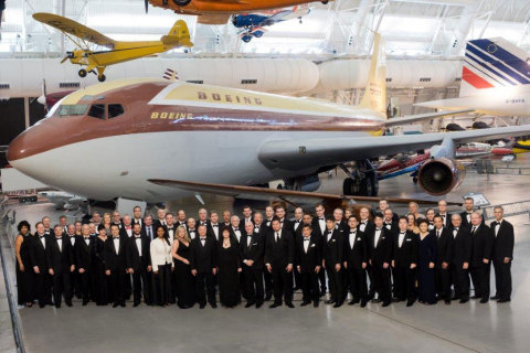 Anodyne and Boeing executives during the Supplier of the Year award ceremony (Photo: Business Wire)