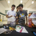 Students from Alta Loma Middle School compete in the Helix Cup science challenge. (Photo: Business Wire)