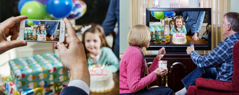 Comcast today announced that Xfinity customers on the X1 Entertainment Operating System can now live stream their favorite life moments over the Internet from their smartphone to the television to share with friends and family. (Photo: Business Wire)