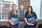 Siteworx' Programmers Allison Carnwath (left) and Savani Tatake (right) Celebrate DCFemTech Award With Siteworx President, Ken Quaglio (center) (Photo: Business Wire)