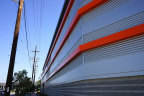 Public Storage's newest self-storage location changes the landscape in an industrial neighborhood in Glendale, Calif., with the company's trademark orange visible from the 134 Freeway. (Photo: Business Wire)