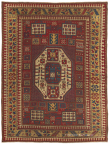 """A Caucasian Karachov Kazak rug, (5ft 5in x 7ft 1in) from circa 1850. This one-in-the-world rug is a highlight of The """"Silicon Valley Collection"""" at Claremont Rug Company. (Photo: Business Wire)"""