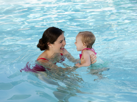 National Learn to Swim Day provides the opportunity to raise awareness on the importance of water safety and teaching children how to swim as pools open across U.S. (Photo: Business Wire)