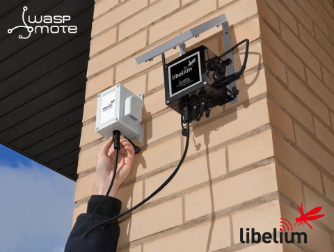 Waspmote Plug & Sense! integrates up to six sensors per node, maximizing network infrastructure and reducing installation costs. (Photo: Business Wire)