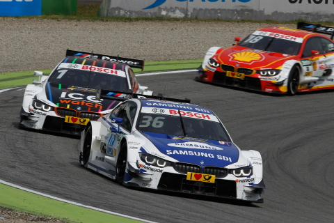 Samsung SDI inked an official partnership contract with BMW Motorsport for the prestigious DTM (Deutsche Tourenwagen Masters). The car, which names 'SAMSUNG BMW M4 DTM' driven by Maxime Martin, bore the logo of Samsung SDI in the DTM to be held in Hockenheimring, Germany from May 1-3. Photo sourced by www.press.bmwgroup.com.