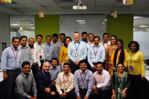 CEO, Michael Boustridge and Ciber India Operation Team (Photo: Business Wire)