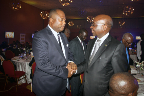 Claude Wilfrid Etoka and Donald Kaberuka (Photo: Business Wire).