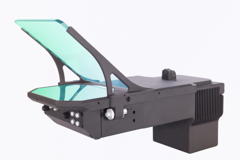 Designed using BAE Systems' patented waveguide technology, LiteHUD® is 60 percent smaller by volume and up to 50 percent lighter than a conventional HUD. It has a modular design which allows easy integration into both existing and future cockpits. (Photo: BAE Systems)