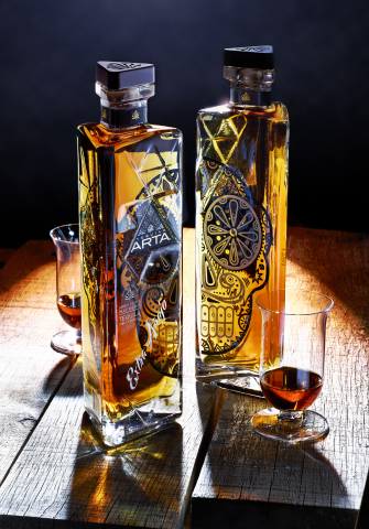 Colorado-owned Arta Tequila launches the first batch of its five-year aged Extra Añejo tequila in numbered and signed bottles (only four batches, 1,000 bottles produced in each batch) at select retail stores throughout Colorado. One of the most unconventionally produced tequilas, Arta's Extra Añejo is triple-barreled (three years in American white oak, then split between French cognac and Spanish sherry barrels for another two years) and ultimately reunited, taking traditional tequila aging to an art form. (Photo: Business Wire)