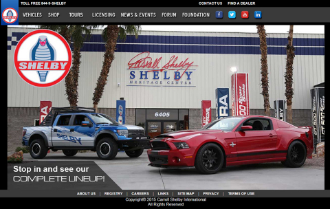 Carroll Shelby International launches new website, www.shelby.com (Photo: Business Wire)