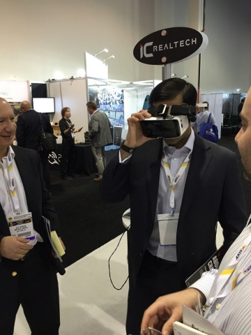 Together the IC720 camera and ZEISS VR ONE headset wowed ISC West 2015 attendees (Photo: Business Wire)