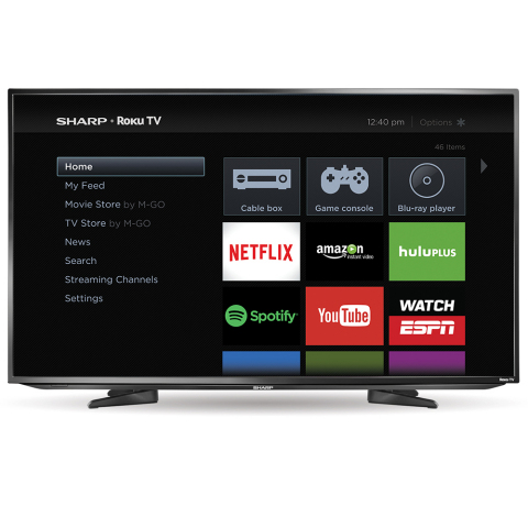 The new Sharp Roku TV models are available this month exclusively at Best Buy stores and BestBuy.com. (Photo: Business Wire)