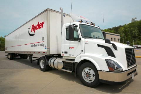 Ryder's new automatic transmission truck that is now available in its North American commercial rental fleet. (Photo: Business Wire)