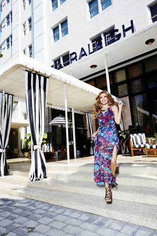 Thalia Sodi for Macy's American Icons features a vibrant collection of clothing, jewelry and footwear in bright colors and vivid prints (Photo: Business Wire)