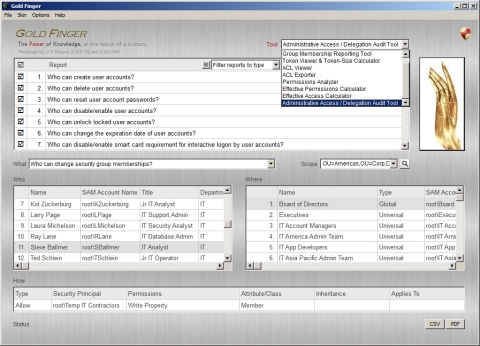 Gold Finger Active Directory Audit Tool Suite (Photo: Paramount Defenses)