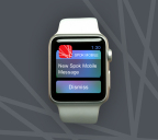 Spok Mobile(R) message arrives on the Apple Watch(TM) (Photo: Business Wire)