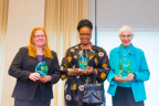 2015 Bonfils-Stanton Foundation Award Recipients from left to right: Dr. Kristi Anseth, Dianne Reeves and Adele Phelan (Photo: Business Wire)