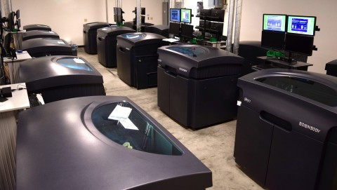 ClearCorrect has significantly scaled the number of Objet Eden500V 3D Printers it has on site to boo ...