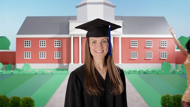 """Brand of Gina"" video, as featured in Fifth Third Bank's Brand of You campaign, designed to help recent graduates gain employment."