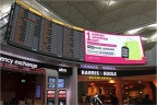 NanoLumens 39-foot, curved display in London's Stansted Airport