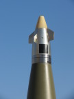 BAE Systems' Rokar Silver Bullet precision guidance kit can transform a standard 155mm artillery shell into a highly accurate munition. (Photo: BAE Systems)