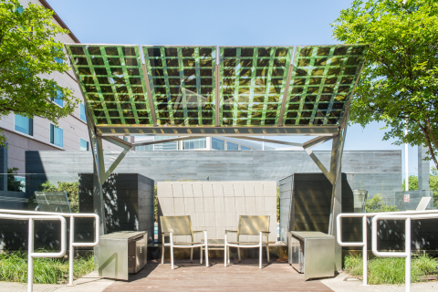 Custom Solar Charging Canopy at Element Dallas Fort Worth Airport (Photo: Business Wire)