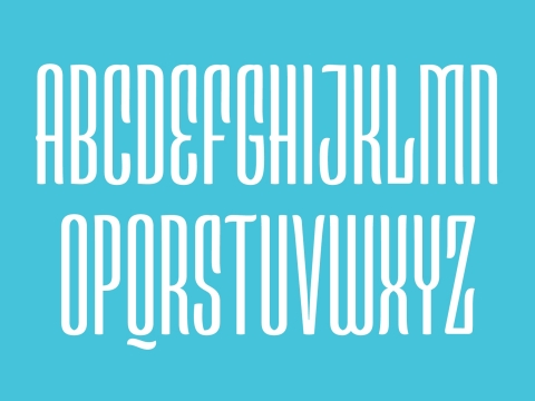 The Esca typeface, designed by Monotype's Jim Ford in three days as of part of Monotype's first-ever font marathon, offers highly compressed proportions and a subtle, calligraphic touch. (Graphic: Business Wire)