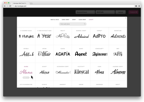 HTML5 authoring tool providers can now integrate Monotype's new Web Font Platform and enable designe