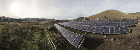 At Yellowstone National Park, solar panels generate renewable electricity stored within 208 used Toyota Camry Hybrid battery packs. (Photo: Business Wire)