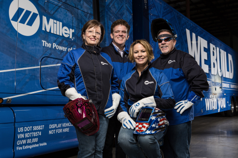 The Miller Electric Mfg. Co. marketing team, clockwise from left: Vickie Rhiner (Brand Manager), Ric