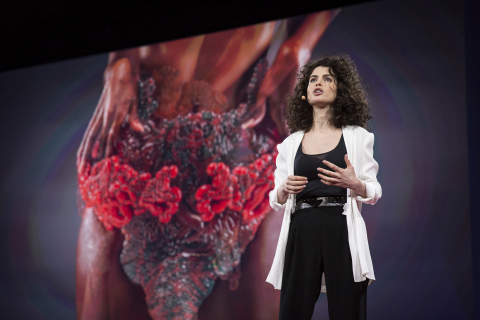 Neri Oxman's lauded TED Talk reveals Stratasys 3D printed wearable designed to host living matter in ...