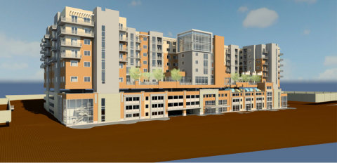 A 3D rendering of Legacy Village in Sugar House (Graphic: Business Wire)