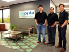 Vyopta's founders: Rick Leung, chief technology officer; Alfredo Ramirez, chief executive officer; and Andrew Chen, vice president and general counsel. (Photo: Business Wire)