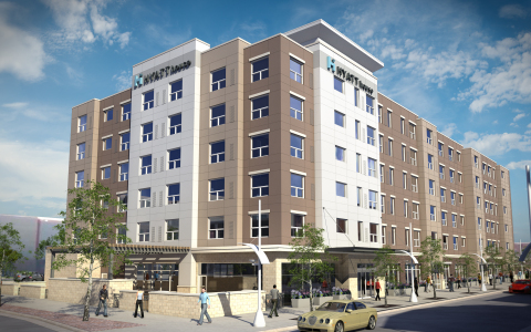 Artist rendering of the Hyatt House at Belmar (Photo: Business Wire)