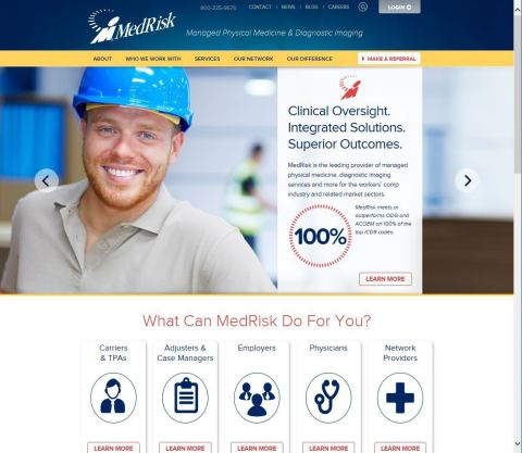 MedRisk's new website features more education for patients, providers and workers' compensation claims managers. (Photo: Business Wire)