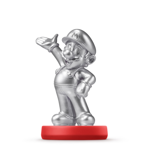 The Mario - Silver Edition amiibo figure will be available May 29 at major retailers nationwide and their respective online destinations at a suggested retail price of $12.99. (Photo: Business Wire)
