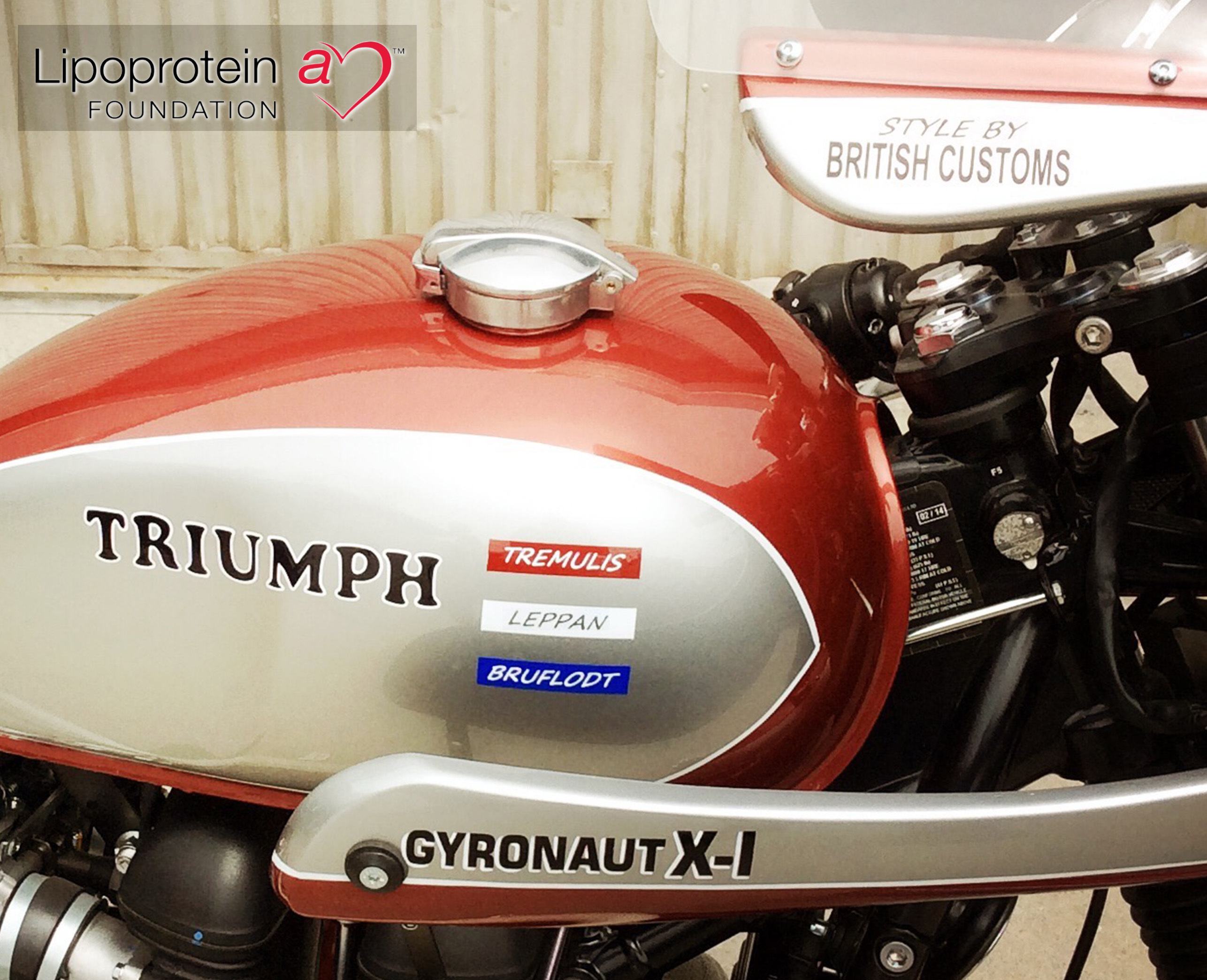 Lipoproteina Foundation To Auction Off Donated Triumph Bonneville